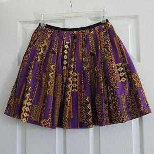 Topshop Purple Printed Skirt